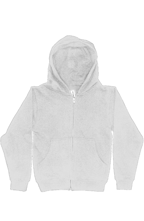 Youth Midweight Hooded Full-Zip Sweatshirt