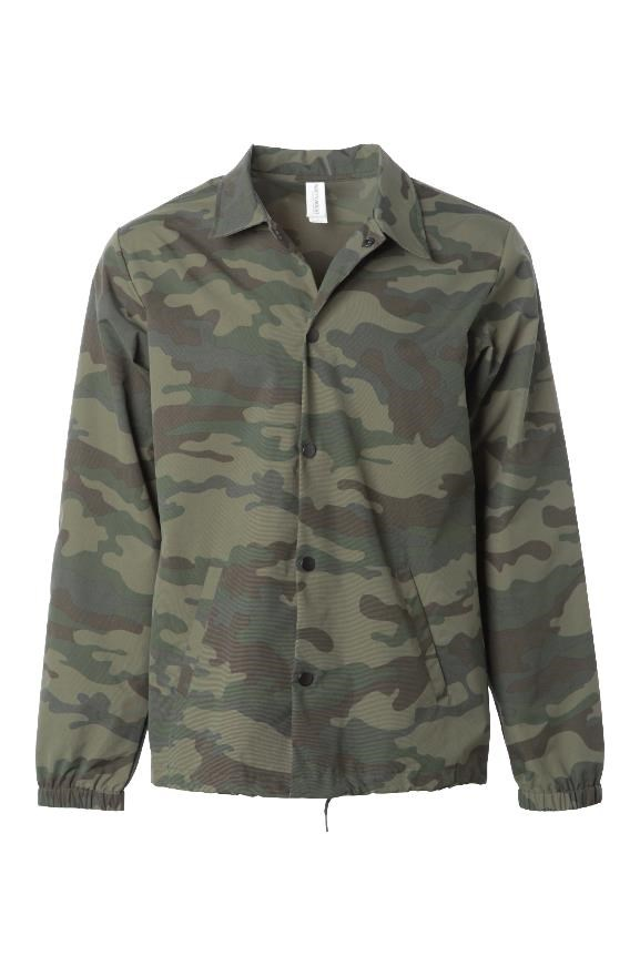 mens jackets Water Resistant Windbreaker Coaches Jacket Camo