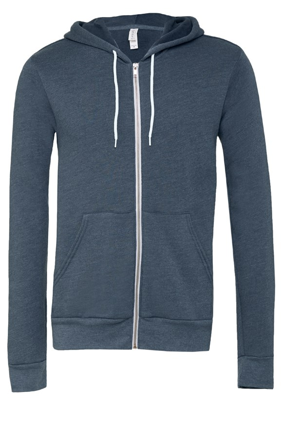 womens hoodies unisex heather zip hoody
